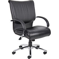 Boss Mid Back Leatherplus Bonded Leather Executive Chair