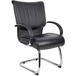 Boss Mid Back Leatherplus Bonded Leather Guest Chair