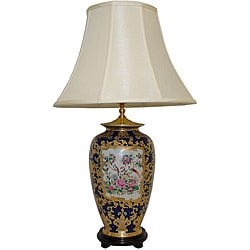 Royal Rose Medallion Porcelain Table Lamp
