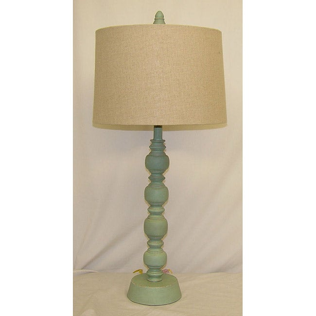 Luisito Blue Wooden Table Lamp