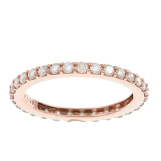 Beverly Hills Charm 14k Rose-Tone Gold 1ct TDW Diamond Wedding Band (H-I, I2-I3)