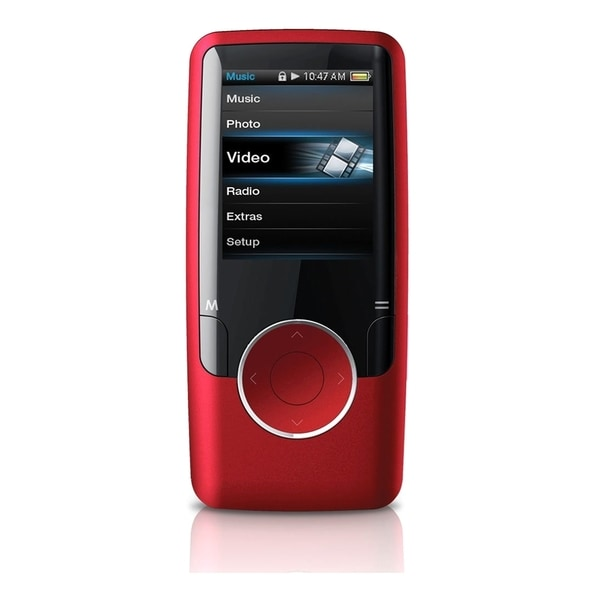 Coby MP620 4 GB Red Flash Portable Media Player