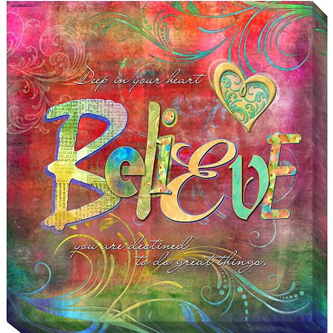 Connie Haley 'Believe' Canvas Giclee Art