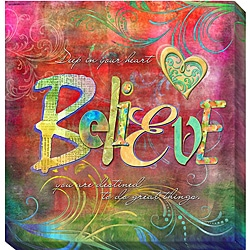 Connie Haley 'Believe' Canvas Giclee Art