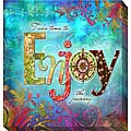 Connie Haley 'Enjoy' Canvas Giclee Art