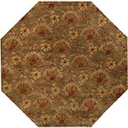 Hand-tufted Chryso Brown Wool Rug (8' Octagon)