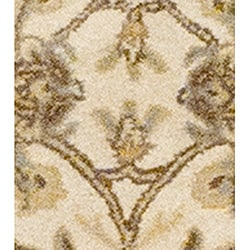 Indo Hand-tufted Kashan Beige Wool Runner (2'3 x 7')