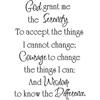 Design on Style 'God Grant Me the Serenity' Black Vinyl Wall Art Quote