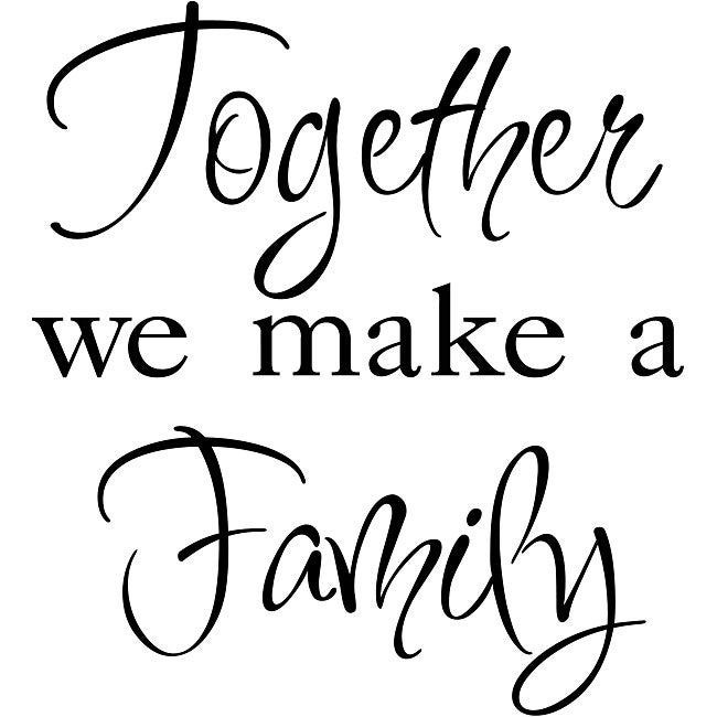 Design on Style 'Together We Make a Family' Black Vinyl Wall Art Quote