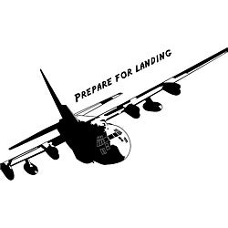 'Prepare For Landing' Vinyl Wall Art Quote