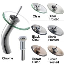 Kraus Waterfall Chrome Bathroom Faucet with Drain