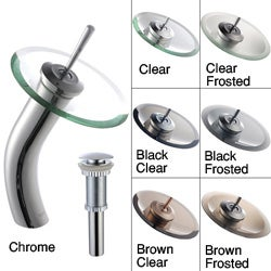 Kraus Waterfall Chrome Faucet with Drain