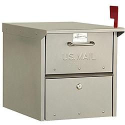 Heavy-duty Rural Nickel Finish Mailbox