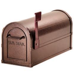 Heavy-duty Rural Mocha Mailbox