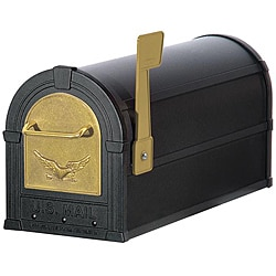 Gold/ Black Eagle Heavy-duty Rural Mailbox