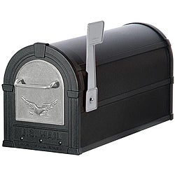 Silver/ Black Eagle Heavy Duty Rural Mailbox