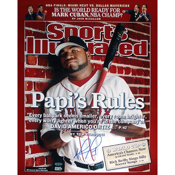 Boston Red Sox David Ortiz 16 x 20 Sports Illustrated Autographed Cover