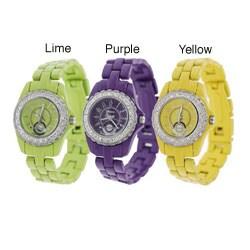 Geneva Platinum Women's Cubic Zirconia Accented Watch