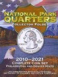 National Park Quarters Collector Folder 2010-2021: Complete Coin Set: Philadelphia and Denver Mints (Hardcover)