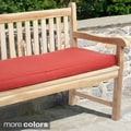 "Outdoor 60"" Bench Cushion with Sunbrella Fabric - Textured Bright"