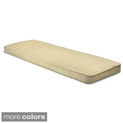 "Outdoor 60"" Bench Cushion with Sunbrella Fabric - Textured Neutral"