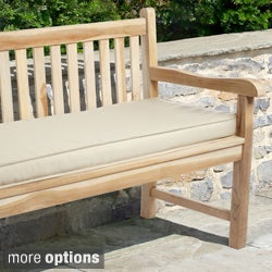 "Outdoor 60"" Bench Cushion with Sunbrella Fabric - Solid Traditional"