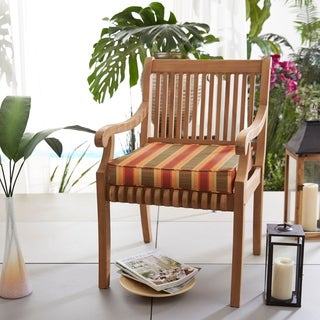 Indoor/ Outdoor 20-inch Striped Chair Cushion with Sunbrella Fabric