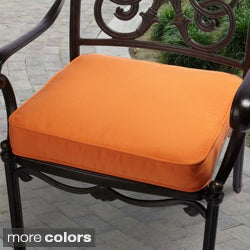 "Outdoor 20"" Chair Cushion with Sunbrella Fabric - Textured Bright"