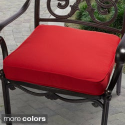 Outdoor 20-inch Solid Traditional Chair Cushion with Sunbrella Fabric