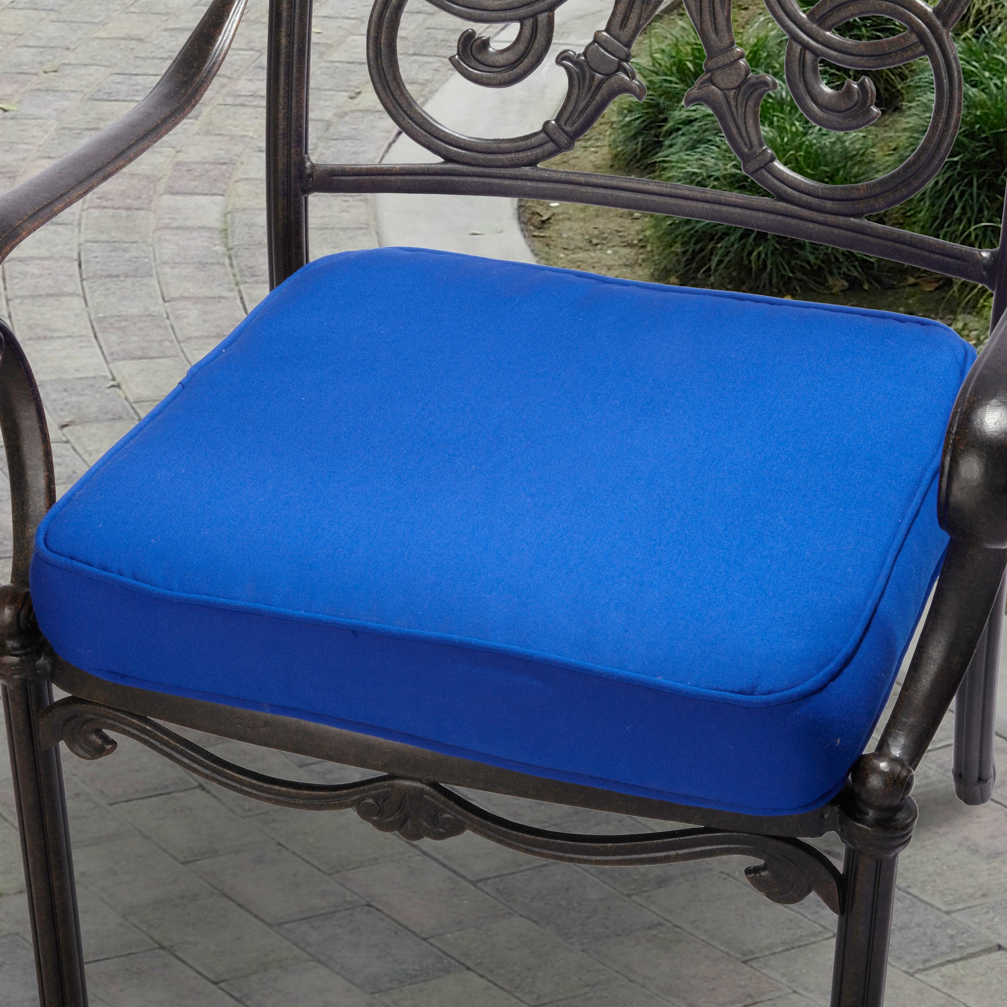 indoor outdoor 20 chair cushion with sunbrella fabric solid bright