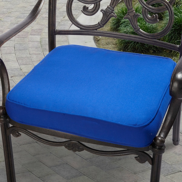 "Indoor/ Outdoor 20"" Chair Cushion with Sunbrella Fabric Solid Bright 10836022"