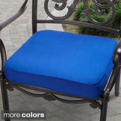"Outdoor 20"" Chair Cushion with Sunbrella Fabric - Solid Bright"