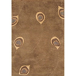 Alliyah Handmade Tobacco Blended Wool Rug (8' x 10')