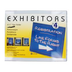 Rogers Exhibitors Clear Plastic 4-in-1 Sign Holder (Pack of 4)