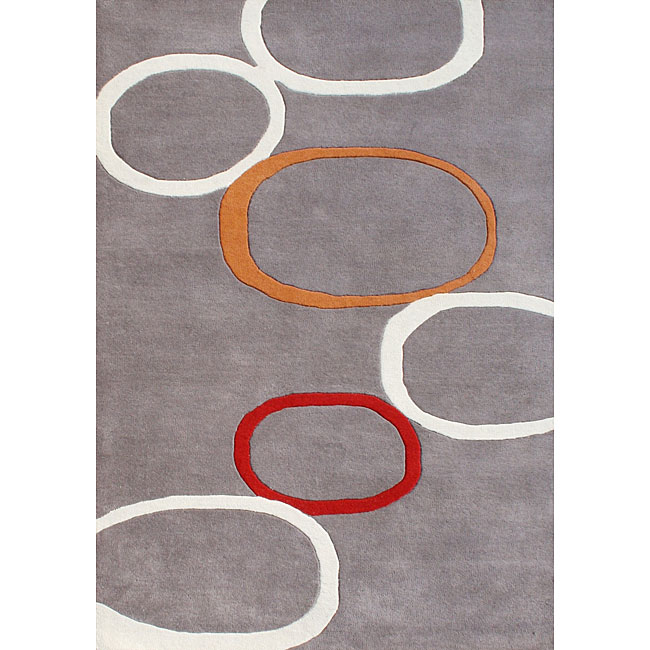 Alliyah Handmade Grey New Zealand Blend Wool Rug (8' x 10')