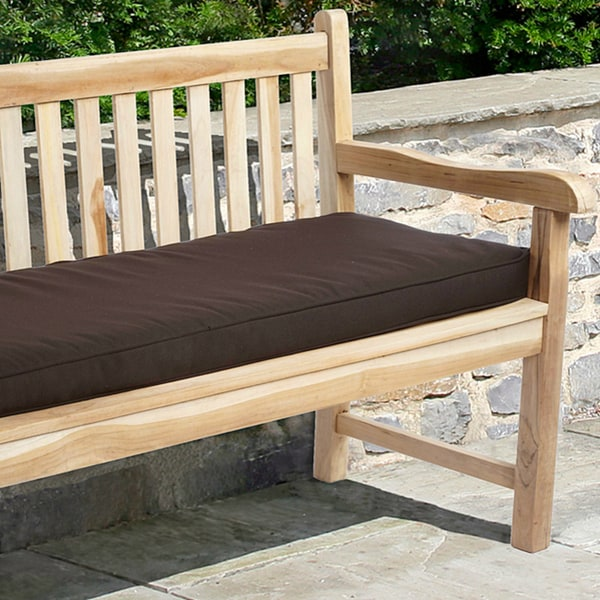 Indoor/ Outdoor Textured Neutral 48-inch Bench Cushion with Sunbrella Fabric