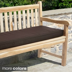 "Outdoor 48"" Bench Cushion with Sunbrella Fabric - Textured Neutral"