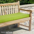 "Outdoor 48"" Bench Cushion with Sunbrella Fabric - Solid Bright"
