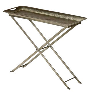 Nickel-plated Iron Antique Butterfly Tray Table (India)