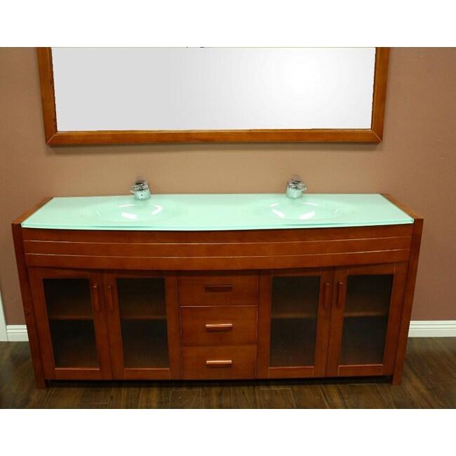 Design element waterfall double sink bathroom vanity set for Waterfall set design