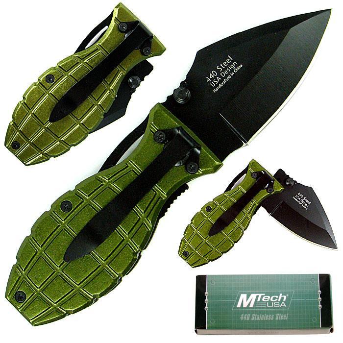 Green Beret 6-inch Grenade Folding Knife