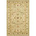 Handmade Mahal Ivory Wool Rug (4' x 6')