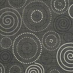 Indoor/ Outdoor Ocean Black/ Sand Rug (6'7 x 9'6)