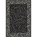 Safavieh Indoor/ Outdoor Oasis Black/ Sand Rug (2'7 x 5')