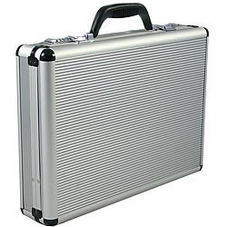 Fasano Aluminum Silver 4-inch-wide Attache Case