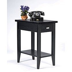 Catrin Black Wood Miniscule End Table