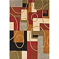 Hand-tufted Metro Classic Multi-color Wool Rug (8' x 10')