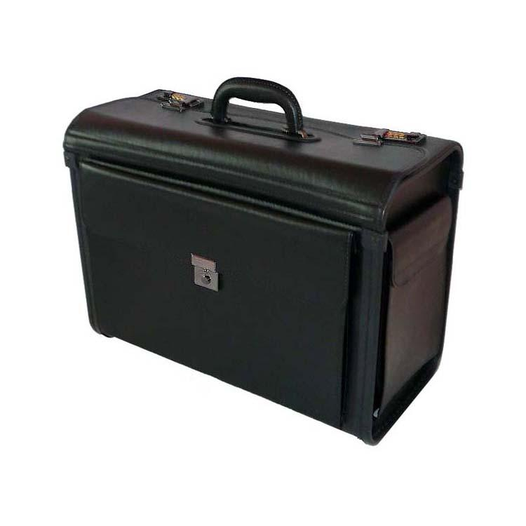 Manchester Deluxe Leatherette Black Catalog Case