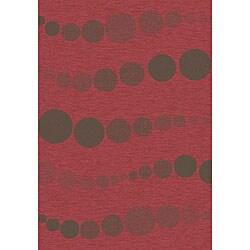 Velvet Flat Weave Red Rug (7'10 x 10'10)