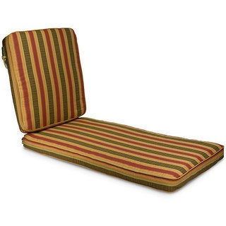 Indoor/ Outdoor 25-inch Wide Striped Chaise Lounge Cushion with Sunbrella Fabric